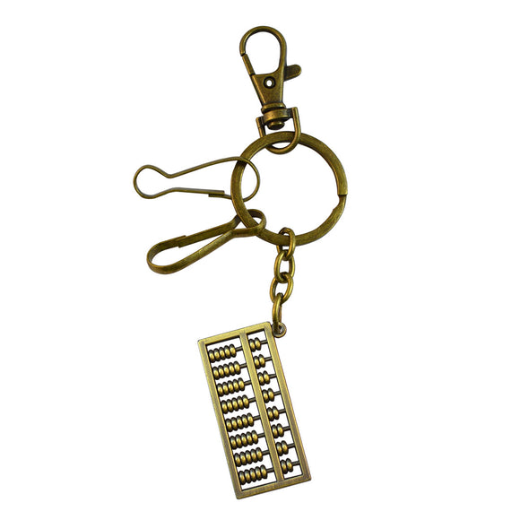 Sarah Bead Frame Key Chain - Metallic