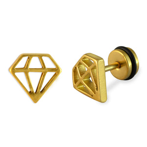 Sarah Diamond Shape Mens Stud Earring