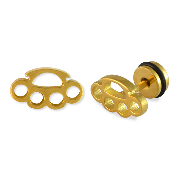 Sarah Knuckle Duster Mens Stud Earring