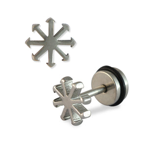 Sarah Symbol of Chaos Mens Stud Earring