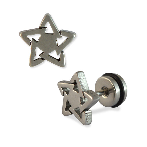 Sarah Star Mens Stud Earring