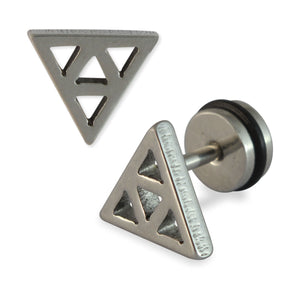 Sarah Triangle Mens Stud Earring