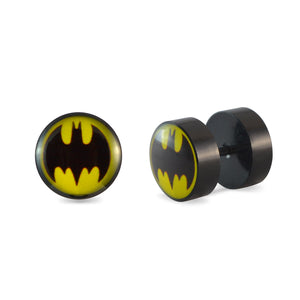 Sarah Black Batman Single Stud Earring for Men