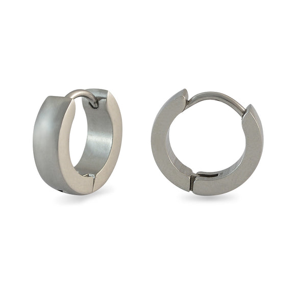 Sarah Plain Silver Single Hoop Earring for Men