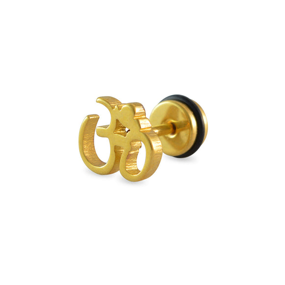 Sarah Om Gold Single Stud Earring for Men