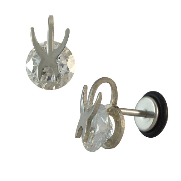 Sarah Stone Silver Single Stud Earring for Men