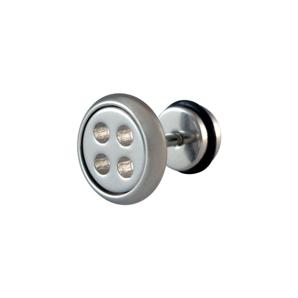 Sarah Button Single Stud Earring for Men