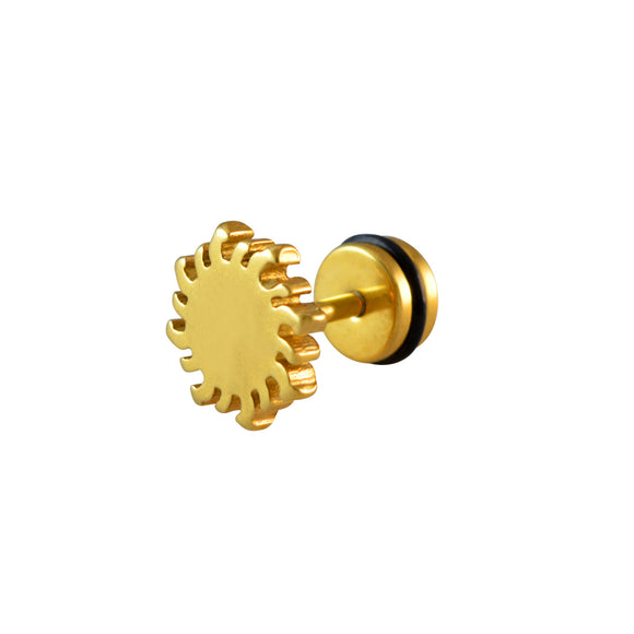 Sarah Spiked Round Single Stud Earring for Men