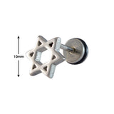 Sarah Star Single Stud Earring for Men - Silver