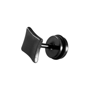 Sarah Diamond Shape Single Stud Earring for Men - Black