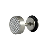 Sarah Grey Textured Single Stud Earring for Men