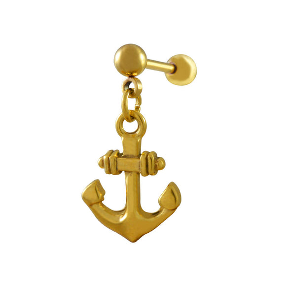 Sarah Anchor Design Single Drop Earring for Men