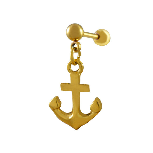 Sarah Anchor Single Drop Earring for Men