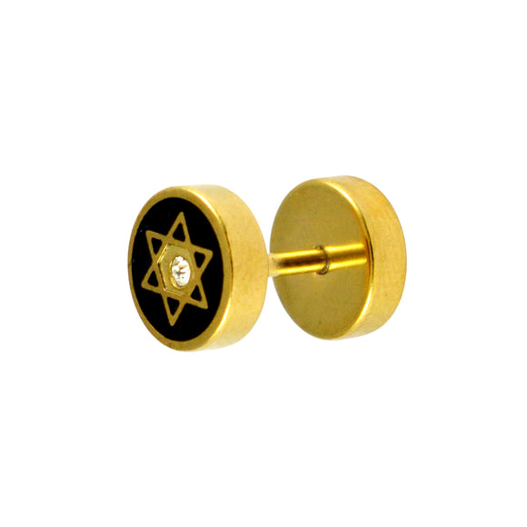 Sarah David Star Single Stud Earring for Men - Gold Color