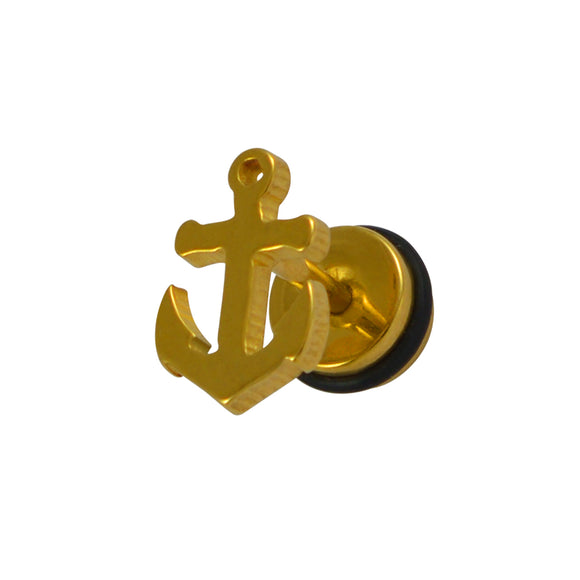 Sarah Anchor Shaped Single Stud Earring for Men