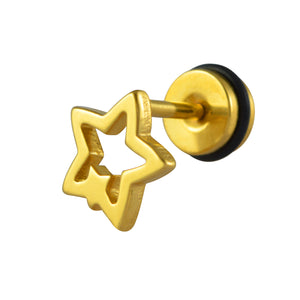 Sarah Overlap Star Single Stud Earring for Men