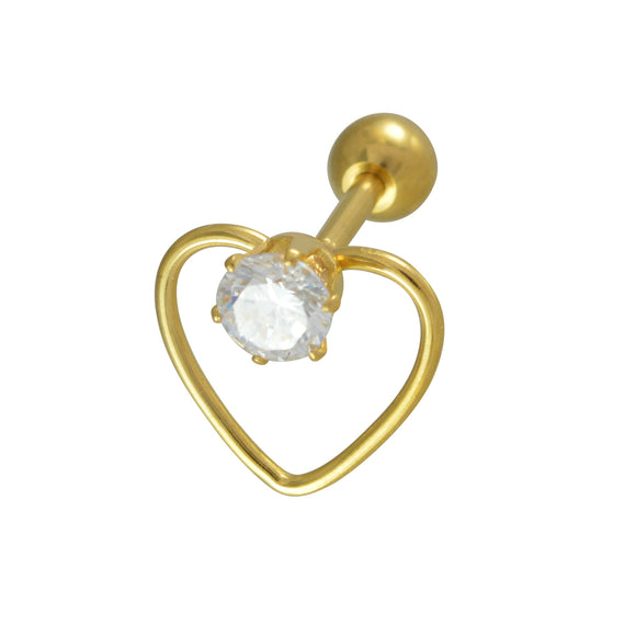 Sarah Heart Shape Single Stud Earring for Men