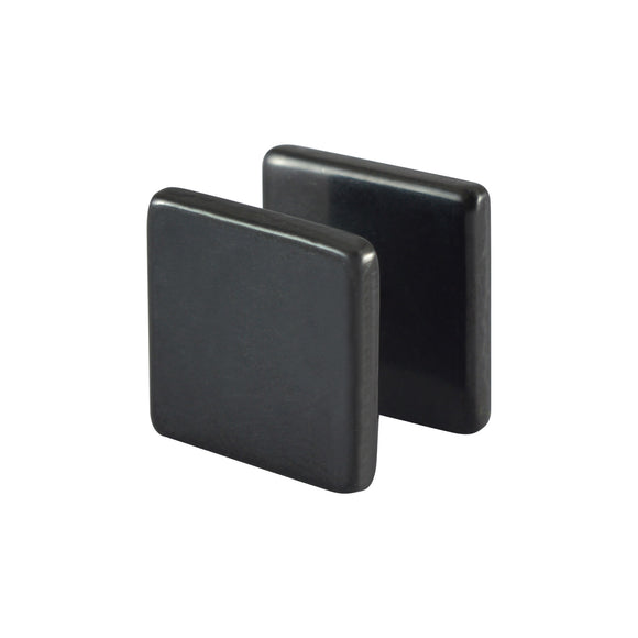 Sarah Big Square Shape Single Stud Earring for Men - Black