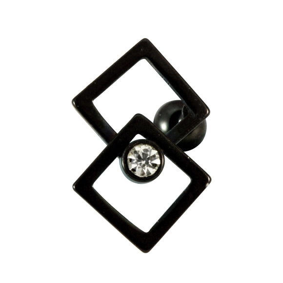 Sarah Ball Screw Closure Fancy Stud Earring for Men