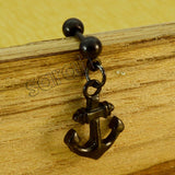 Sarah Dangling Anchor Cartilage Tragus Earring for Men and Women