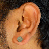 Sarah Shimmer Silver Stainless Steel Stud Earring for Men