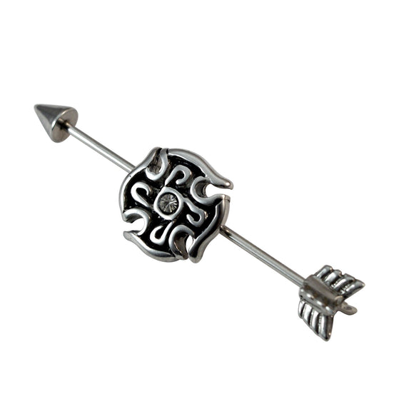 Stainless Steel Industrial Straight Barbell Body Piercing Jewelry Earring for Girls and Boys