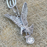Sarah Eagle Pendant Chain Mens::Boys, Silver for Everyday wear