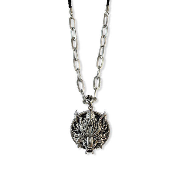 Sarah Monster Pendant Chain Mens::Boys, Silver for Everyday wear