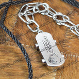 Sarah Name Tag Pendant Chain Mens::Boys, Silver for Everyday wear