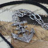 Sarah Danger Anchor Pendant Chain Mens::Boys, Silver for Everyday wear