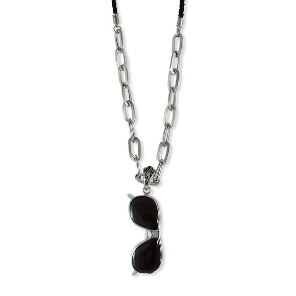 Sarah Goggles Pendant Chain Mens::Boys, Black for Everyday wear