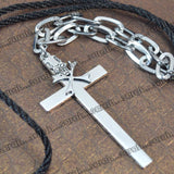 Sarah Cross Pendant Chain Mens::Boys, Silver for Everyday wear