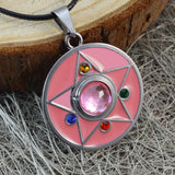 Sarah Star with Pink Faux Stone Pendant Necklace Men::Boys, Pink for Everyday wear
