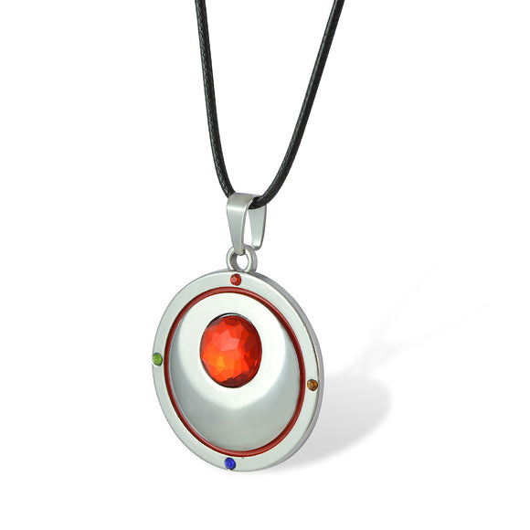 Sarah Red Faux Stone Pendant Necklace Men::Boys, Red