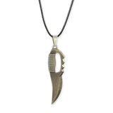 Sarah Dagger Shaped Pendant Necklace Men::Boys, Silver