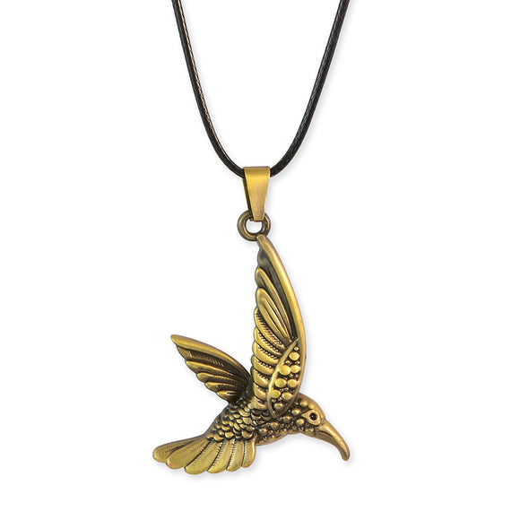 Sarah Bird Shaped Gold Color Pendant Necklace for Men