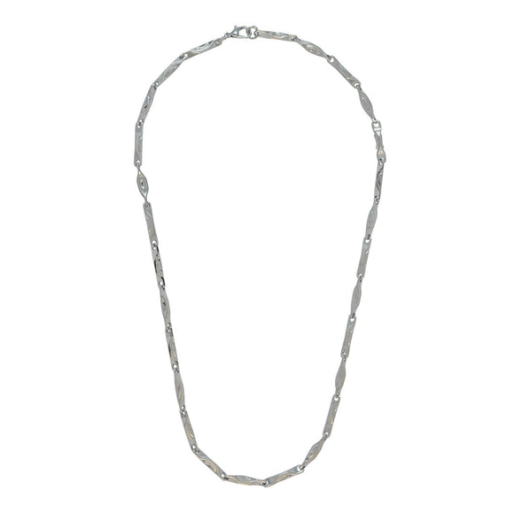 Sarah Silver Flat Link Chain for Men