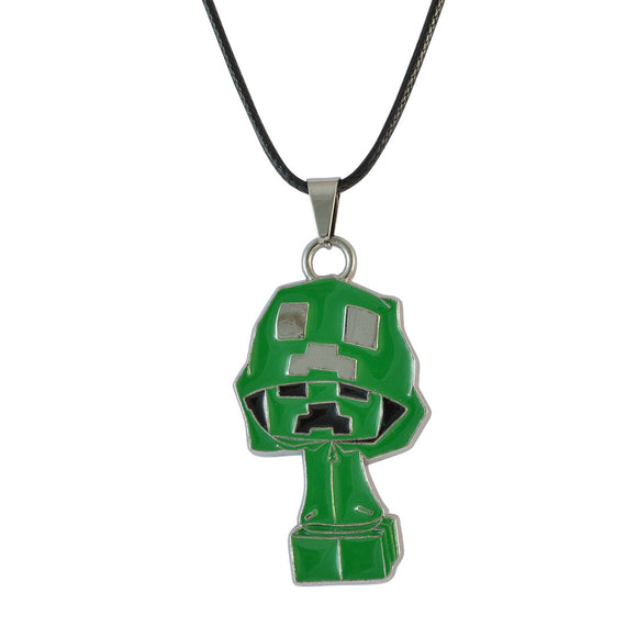 Sarah Anime Pendant Necklace for Men - Green