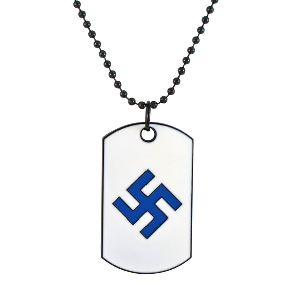 Sarah Swastik Pendant Necklace for Men - Blue