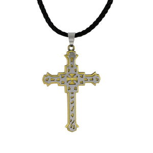 Sarah Cut Work Cross Pendant Necklace for Men - Silver