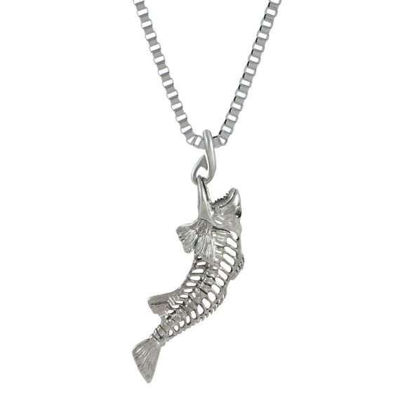 Sarah Cubera Snapper Pendant Necklace for Men - Silver