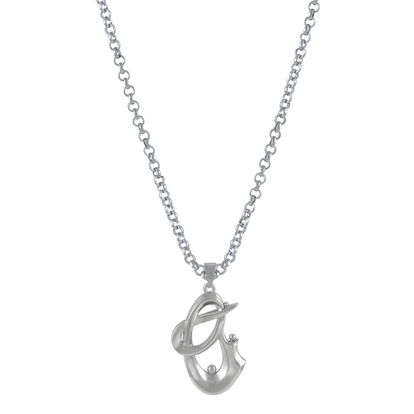 Sarah Abstract Pendant Necklace for Men - Silver