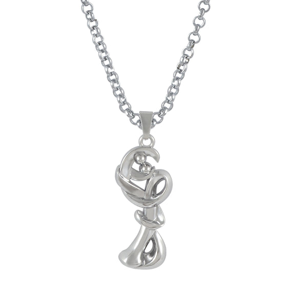 Sarah Stylish Abstract Pendant Necklace for Men - Silver