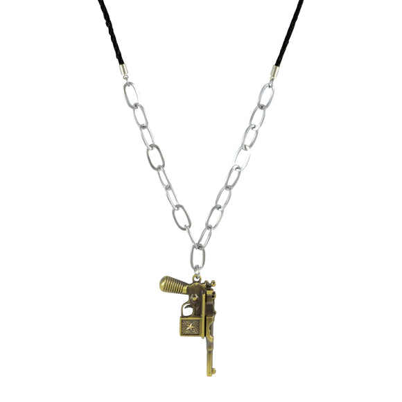 Sarah Gun Pendant Necklace for Men - Gold