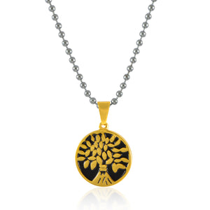 Sarah Tree of Life Pendant Necklace for Men - Silver