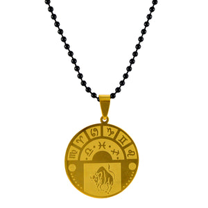 Sarah Taurus Sign Pendant Necklace for Men - Gold