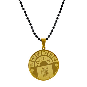 Sarah Leo Sign Pendant Necklace for Men - Gold