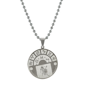 Sarah Leo Sign Pendant Necklace for Men - Silver