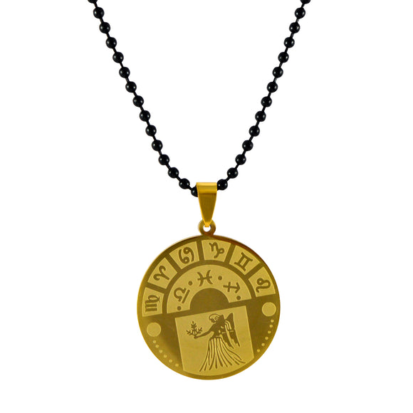Sarah Virgo Sign Pendant Necklace for Men - Gold
