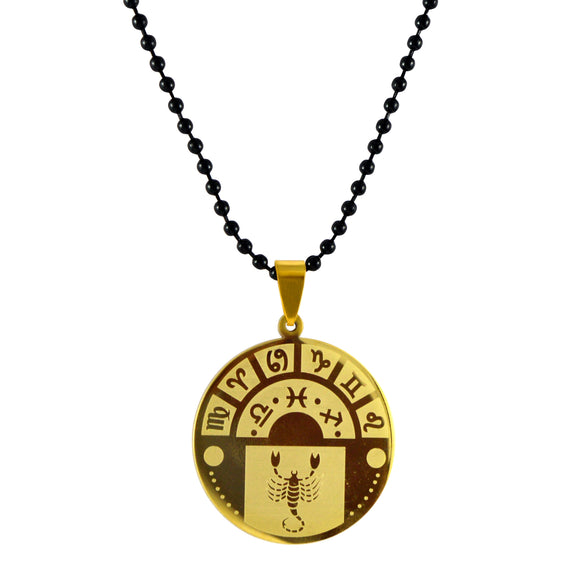 Sarah Scorpio Sign Pendant Necklace for Men - Gold
